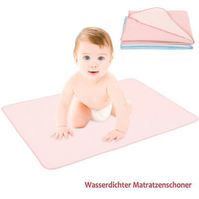 New Waterproof Baby Cot Bed Mattress Protector Sheet Cover Washable Reuseable