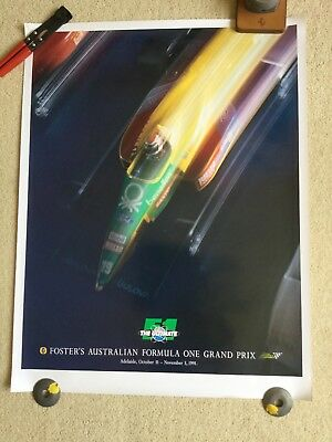 Adelaide Formula 1 Grand Prix official poster 1991
