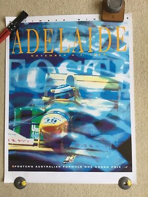 Adelaide 1993 Formula 1 Grand Prix Official poster