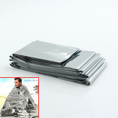 Camping waterproof mylar survival rescue blanket foil thermal heat 160*210cm_S