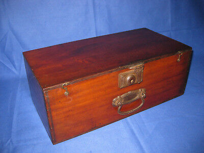 Antique Late Victorian Mahogany Box With Handle