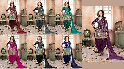 Indian Pakistani ethanic suit Bollywood Designer Punjabi Patiala Salwar Kameez