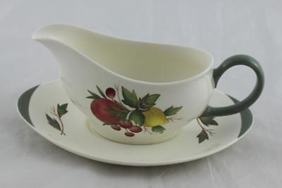 WEDGWOOD 'Covent Garden' Gravy Boat and Stand. 2 Sets Available.