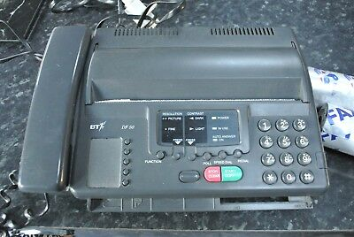 BT DF-50 Thermal Fax Machine with two rolls of fax paper