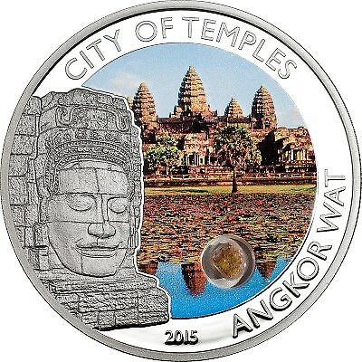 Cook Islands - 2015 - 5 Dollars - Magical & Mystical Places ANGKOR WAT (PROOF)