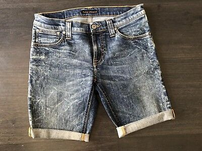 Genuine Nudie Jeans Shorts Cut Off Bootcut Starcy Spoted Inc Organic Denim 28