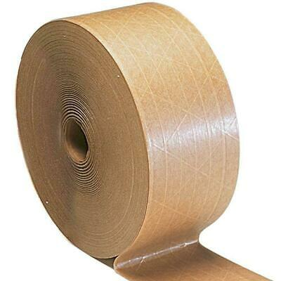 """Tan/Brown Gummed Tape Economy Grade 3"""" x 375' Water Activated Adhesive 40 Rolls"""