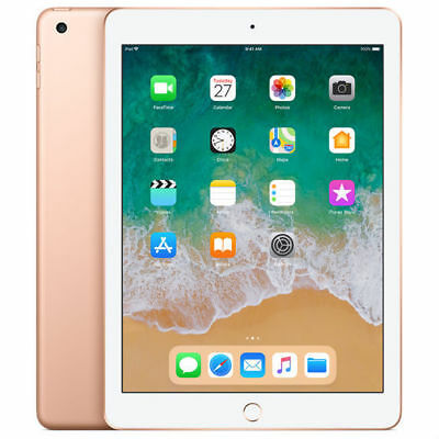 Neuf Apple Ipad 32Gb 9.7 Inch Wi-Fi 2018 Ver Tablet Or Gold