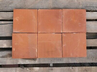"New Reclamation Orange / Red Quarry Tiles 9""x9"" 