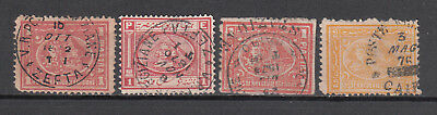 Egypt  1870/76  Lot Of 4 Second & Third Issue Used Stamps