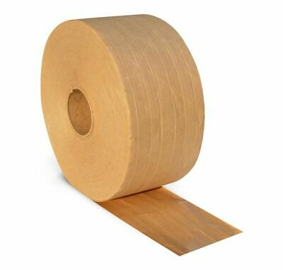 """Tan/Brown Heavy Grade Gummed Tape 3"""" x 450' Water Activated Adhesive 10 Rolls"""