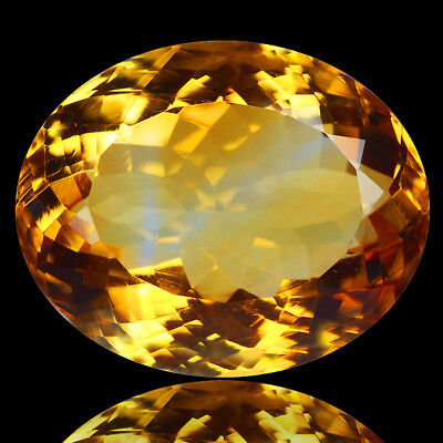 "TOP! VVS * 10,16ct * 1 Oval Natural Golden Yellow Citrine, Brazil ""Unheated"""