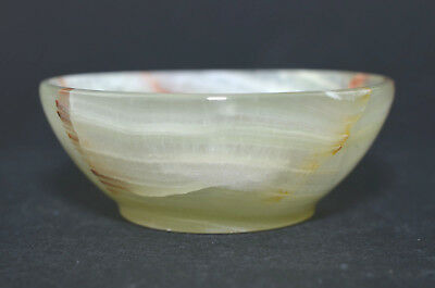 """2.83"""" Onyx Agate Bowl Hand Carved Pure Gem Stone Funtional Handmade M266"""
