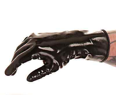 Pure latex wrist gloves, chlorinated for easy-wear - no talc needed!