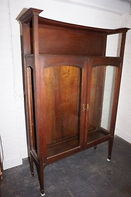 Art Nouveau Mahogany Display Cabinet By Liberty & Co. Of London (C1910)