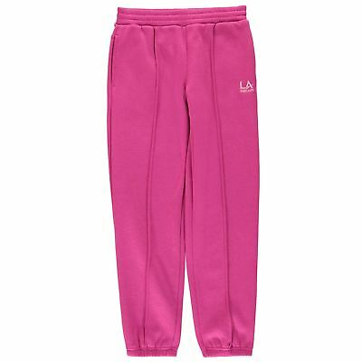 Girls hot pink jogger bottoms jogging tracksuit in age 7 8 9 10 11 12 LA Gear