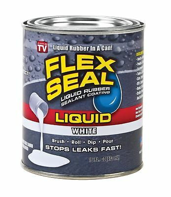 Flex Seal Liquid - Liquid Rubber Sealant Coating - Large 16oz White