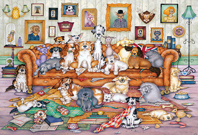 NEW! Gibsons The Barker-Scratchits by Linda Jane Smith 500 piece dogs jigsaw