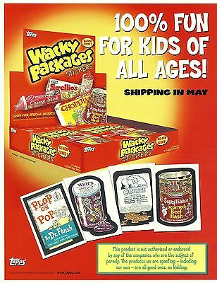Wacky Packages Stickers 3 Card Set Trading Promo Cards Sealed Brochure Mint 2004