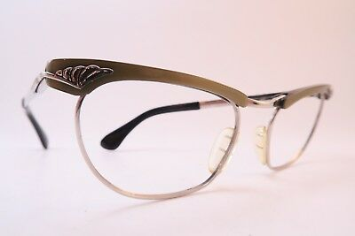 Vintage late 50s eyeglasses frames white gold filled MARWITZ OPTIMA Germany