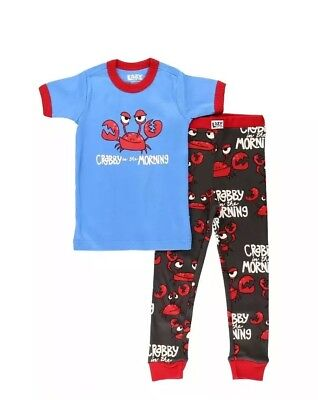 Lazyone Crabby In The Morning Snug Fit Pyjamas Age 10 PJ's