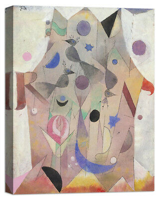 Stampa su Tela Vernice Effetto Pennellate PAUL KLEE Red balloon