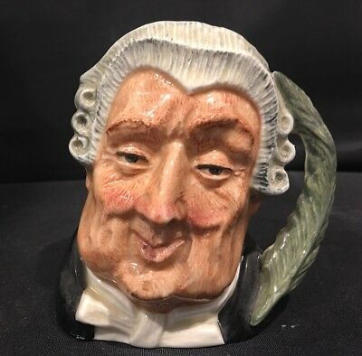 "Royal Doulton Character Toby Jug Mug The Lawyer Miniature 4"" D6504"