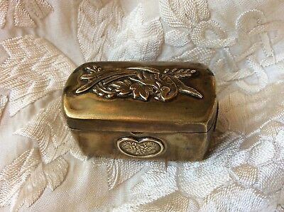 Japanese Antique Meiji Hinged Very Small Box Mixed Metal