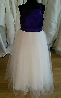 Cadburys purple, age 5/6 Flower girl dress