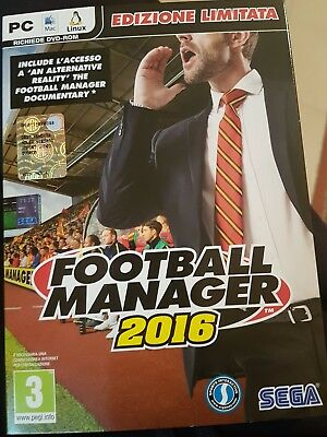 FOOTBALL MANAGER 2016 per PC / MAC italiano - gioco fisico