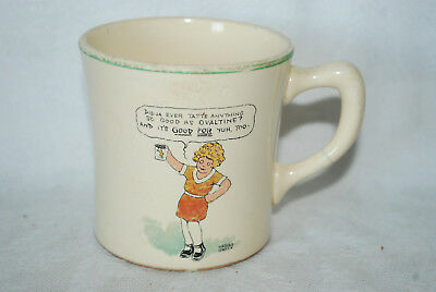 1930s LITTLE ORPHAN ANNIE AND SANDY OVALTINE COCOA PREMIUM ADVERT CHILDRENS MUG