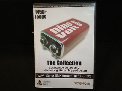 The Collection - Nine Volt Audio - Guitars 1450+ Loops Samples 3 DVD's