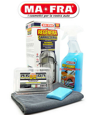 ✔ KIT REGENERA CARROZZERIA AUTO FAST CLEANER 500ml e CLAY BAR SOFT MA-FRA H0946