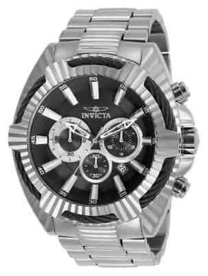 27190 Invicta 50mm Bolt Chronograph Black Dial Stainless Steel Men's Watch