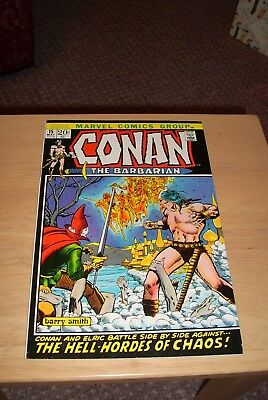 Conan the Barbarian #15 Marvel May 1972 Elric Moorcock Barry Smith Fine Cents