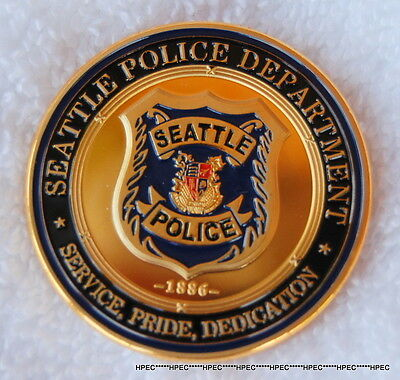 SEATTLE POLICE DEPARTMENT Badge Challenge Coin SPD Officer Detective Agent CSI