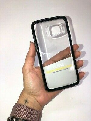 OtterBox Symmetry S7 Clear Case with Black Accent Color.