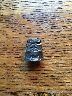 "Vintage Sterling Sewing Thimble Initial ""G"""
