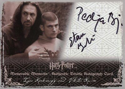 Harry Potter Memorable Moments 2 Dual Autograph Pedja Bjelac Stanislav Ianevski