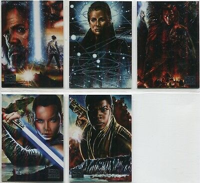 Star Wars Galaxy 2018 Complete 5 Card Chase Set Legends