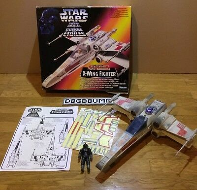 ♠️ JOUET - Star Wars - Electronic X-Wing Fighter - Kenner + Sa Boîte 1996♠️