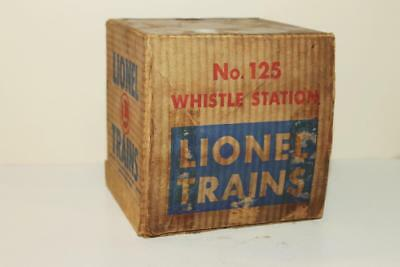 Lionel No.125 Postwar Whistle Station Empty Box Only