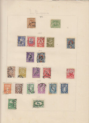 Lithuania - Pages Of Old Album With Stamps