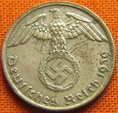 Wwii German 1939 - G 1 Reichspfennig 3Rd Reich Bronze Nazi Germany Coin (Wc2184)