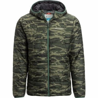 Columbia Men's Crested Butte  Hooded Omni-Heat Jacket in Green Camo, Sz M