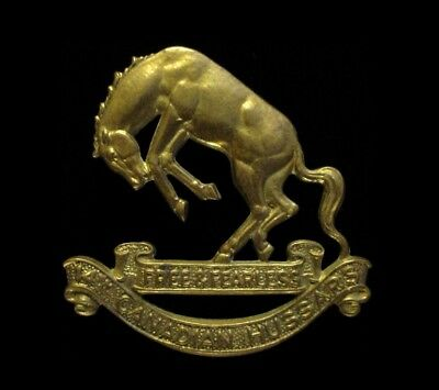 WWII WW2 Canada 14th Canadian Light Horse / Hussars Regiment Regt Cap Badge