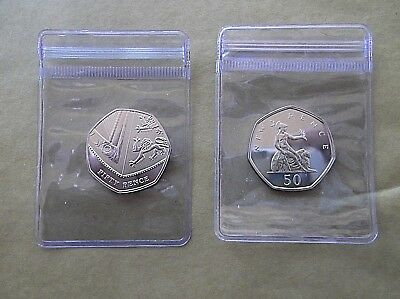 ***RARE****Royal Mint 2019 Royal Shield/Britannia BU 50p Coins FROM YEAR SET a2