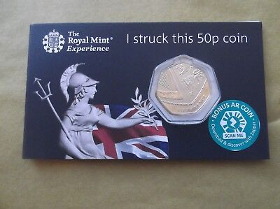 "***RARE****Royal Mint 2019 Royal Shield ""I struck this coin"" BU 50p Coin"