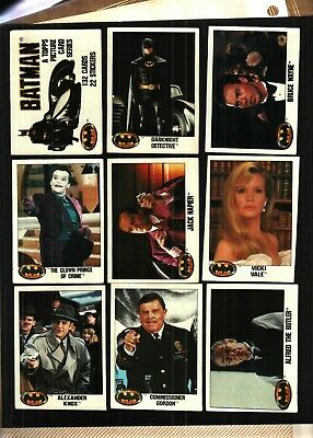 1989 Topps Batman Series 1 Trading Card Set (132) GOOD TO VERY GOOD CONDITION