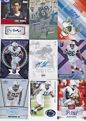 LOT (27) Penn State Nittany Lions College Football Rookies & Greats AUTO RC /50